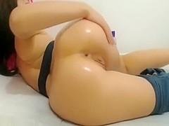 Super hot a-hole in spandex