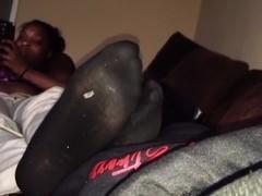 Ebony feet candid