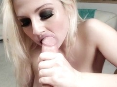 Christie Stevens rams this hard dick down her throat