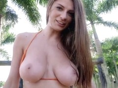 Dillion Carter in A Sexy Ride with Big Natural Tits Video