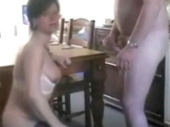 Shameless pussy-action on a chair