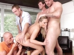 Bara Brass, Neeo, Steve Q, Thomas Lee in 4 On 1 Gang Bangs #06, Scene #01