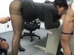 Horny ass chick secretary of entertainment too naughty