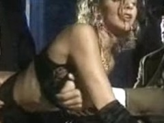 Vintage blonde lady double penetrated in hot threesome