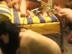 Cute lovely swinger babes getting nailed