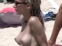 Nudist beach is full of seductive naked women
