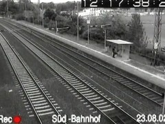 Super sex voyeur security video from a train station