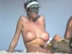 huge boobs spy at beach