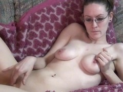 uber hot milfy chick fingering for the first time on camera