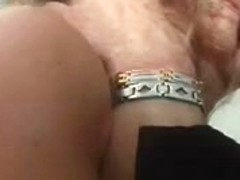 Mature submissive slut sucking and obeying her master