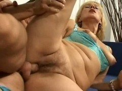 Sexually Excited Mamma Lady Widens Her Shaggy Bawdy Cleft For Some Juvenile Knob