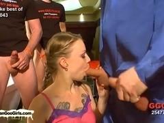 Hot girl to girl and bukkake sessions
