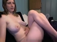 Lovely immature chick naked on a webcam