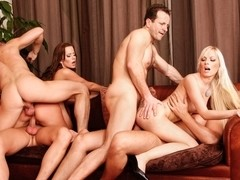 Cindy Dollar, Simone Style, Rachel Evans, Lena Cova in 5 Incredible Orgies, Scene #05