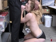 Female shoplifter fucked by mall guard