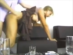 My lustful secretary in skirt rides my cock
