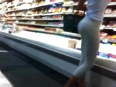 Tight pants in super-market