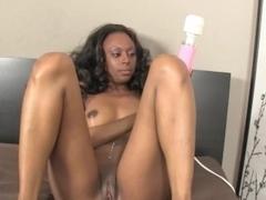 nubian beauty wanks white dick and masturbates