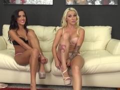 Incredible pornstars Stevie Shae, Chloe Amour in Hottest Cunnilingus, Natural Tits xxx movie