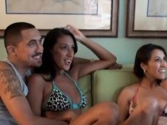 Horny pornstar in Incredible Group sex, Brunette adult video