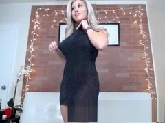 Hot blonde milf jerk off