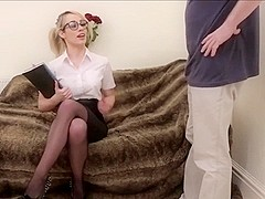 Nerdy Office worker Blowjob D10