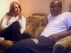 Black guy fucks a cam girl in doggy style