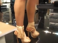 Shopping the brand new black Versace Designer High Heels in Munich 2011 by Veryluxe