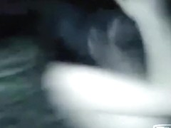 Asian partygirl dances naked in a disco and blows a guy's cock