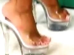 teen ebony and asian lesbian feet