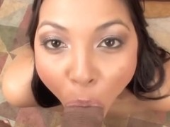 Underware star Adrianna Luna takes a facial jizz flow