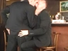 Two bisexual gents screwed one beautiful whore