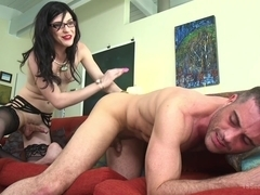 Lance Hart & Stefani Special in Repo My Asshole: Repo Goddess Blackmails Slutty Homeowner - TSSedu.