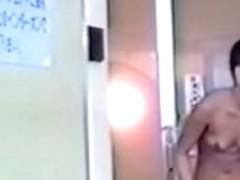 Hidden camera in a girls locker room caught them naked