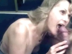 Mature wife gladly will suck the dick all day long