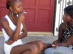BlackGirlsWhiteSlaves: Girls Smoking