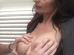 White MILF is ravaged hard by a big hard dick
