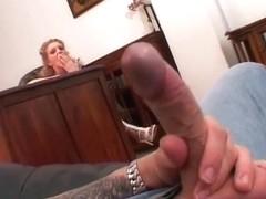 Curly blonde slut adores black cock