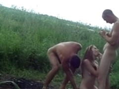Xxx gang bang with two dicks