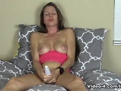 Wireless Vibrator Masturbation In Bed