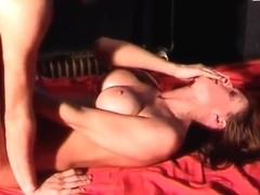 Hot milf fucked by young boy in swinger club