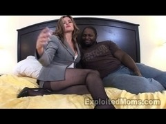 Aged Babes Secretary in Interracial Movie