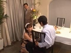 Yukiko Suo Sexy Japanese maid enjoys her job