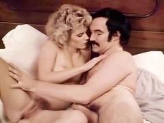 Ginger Lynn Allen, Sasha Gabor in horny retro porn babe likes to suck cock