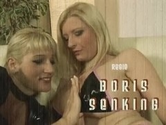 Two kinky sluts and one big dick in action