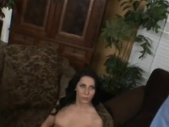 Fine-looking lady in group sex porn video