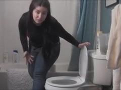 VS blue jeans toilet fart