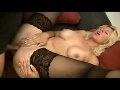 Hot pierced german blonde fucked in pussy and ass