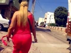 Blonde Big AssWife Banged On Target