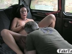 Slut fucked by pervert stranger for free in exchange for her fare